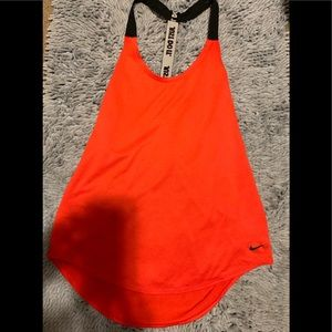 Women's Small Dri Fit Orange & Black Nike tank